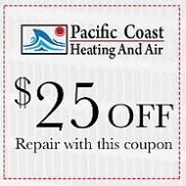 heater or Air Conditioner repair coupon